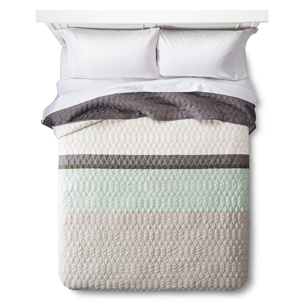 Color Block Quilt Full/Queen Green - Room Essentials, Chillout Sage