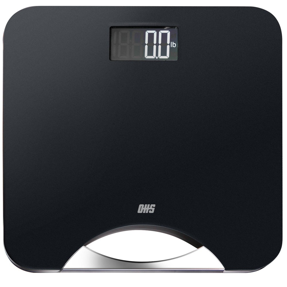 Image of Silhouette Abs Digital Bathroom Scale with Handle Black/Silver - Optima Home Scales