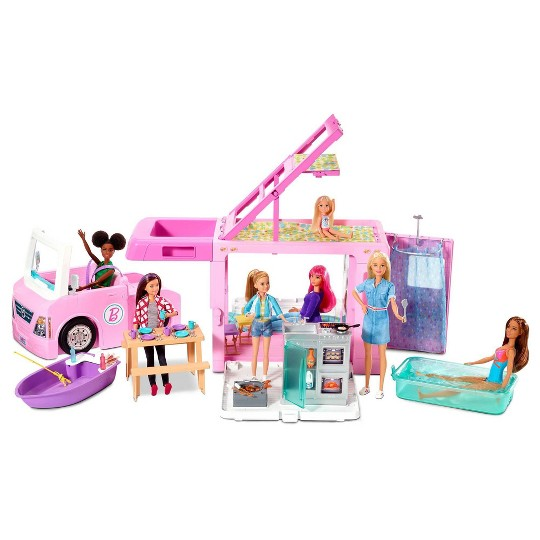 Barbie 3-in-1 Dream Camper Playset image number null