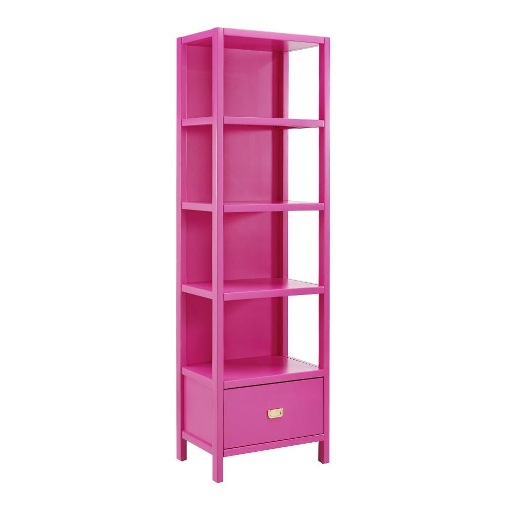 72.5 Peggy Bookcase Pink - Linon 72.5 Peggy Bookcase Pink - Linon