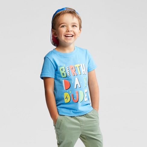 Toddler Boys Birthday Dude Short Sleeve T Shirt