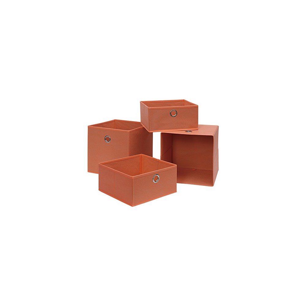 Image of Neu Home Foldable Storage Drawer/Tray 4pc Orange