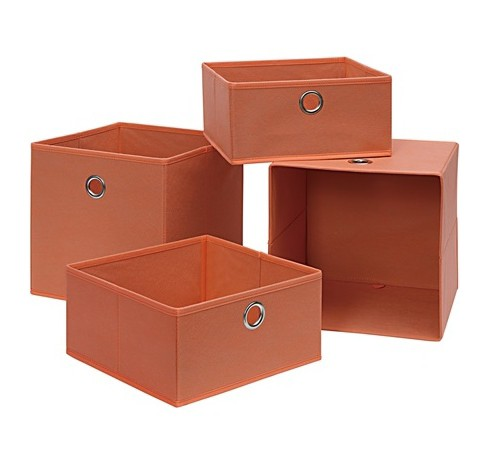 Neu Home Foldable Storage Drawer/Tray 4pc Orange - image 1 of 2
