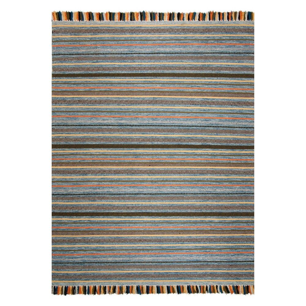 8X10 Stripe Woven Area Rug Blue - Safavieh Coupons