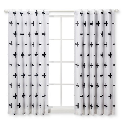 Blackout Curtain Panel Plus Cloud Island Blackwhite Target