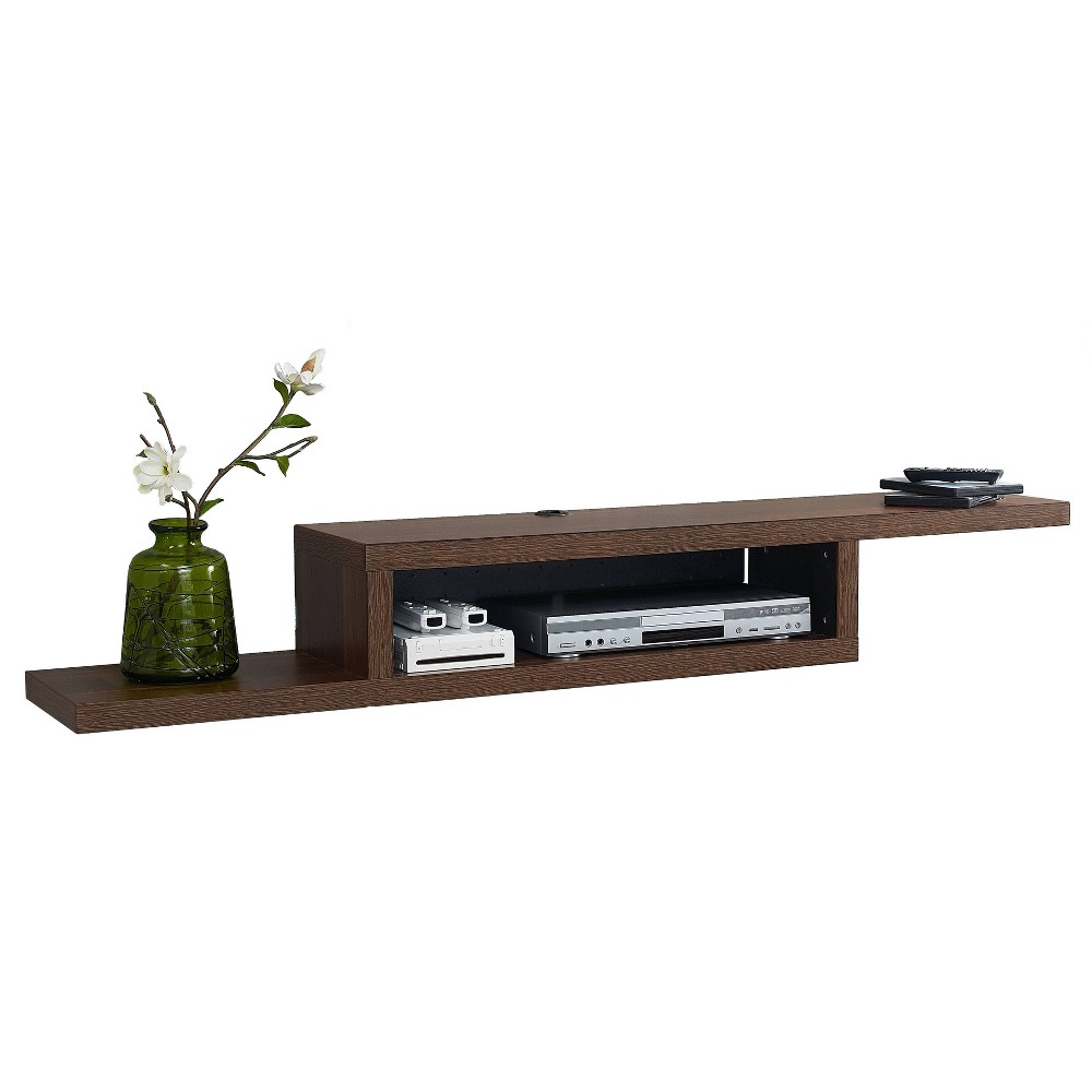 "Image of ""60"""" Skyline Wall Mounted Media Console Walnut - Martin Furniture, Size: 60"""", Brown"""