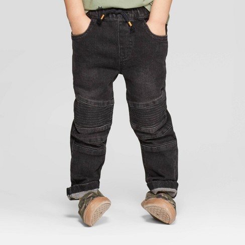 Toddler Boys' Moto Skinny Jeans - art class™ Black - image 1 of 3
