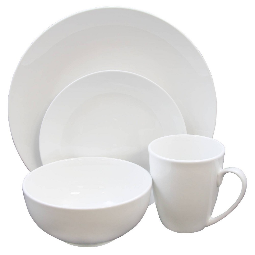Gibson Home 16pc Stoneware Ogalla Dinnerware Set White
