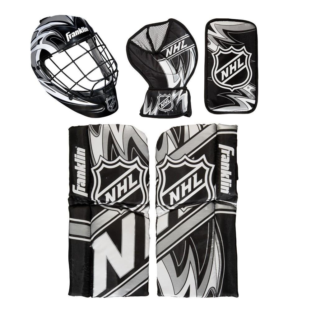 Franklin Sports NHL Mini Hockey Goalie Set - 4pc, Multi-Colored