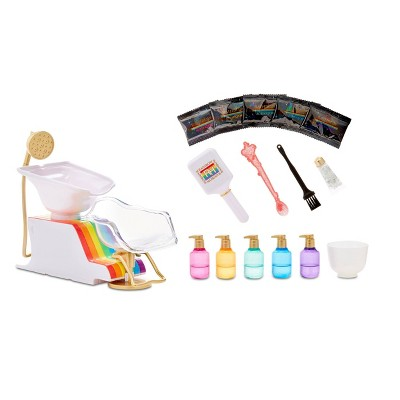 Rainbow High Salon Playset with Rainbow of DIY Washable Hair Color for Dolls (Doll Not Included)