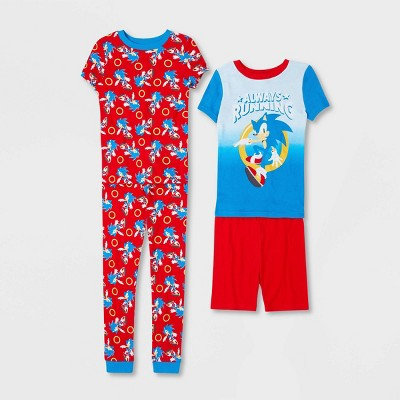 Boys' Sonic the Hedgehog 4pc Pajama Set - Red