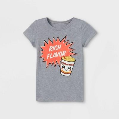 Girls' Maruchan Rich Flavor Short Sleeve Graphic T-Shirt - Gray