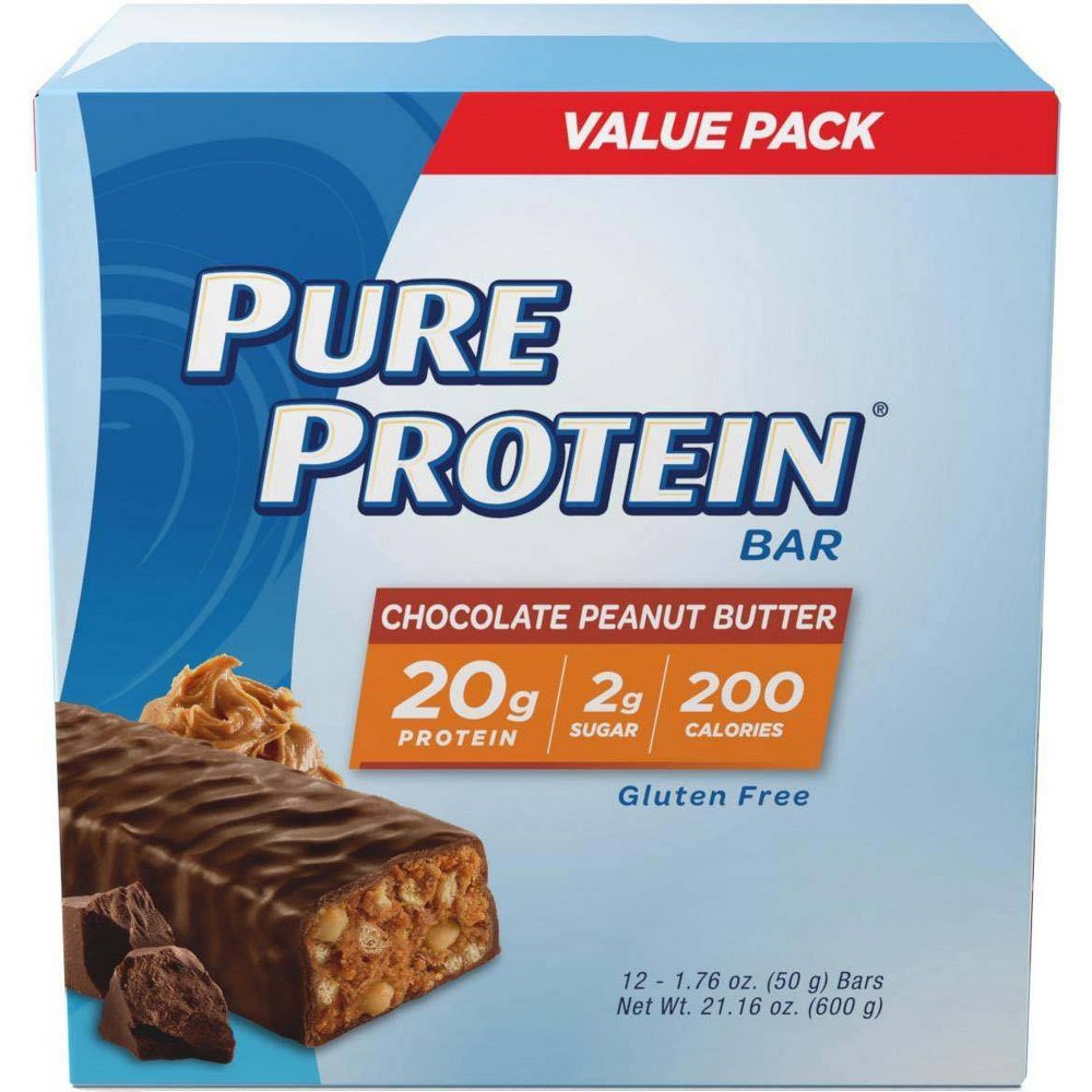 Pure Protein Bar Chocolate Peanut Butter 12ct