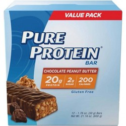 Pure Protein Bar - Chocolate Peanut Butter - 12ct