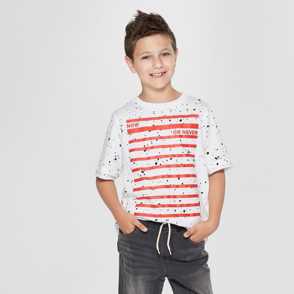 Boys' Now Or Never Graphic Short Sleeve T-Shirt - art class White Xxl