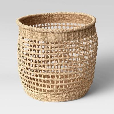 "15"" x 13"" Decorative Woven Seagrass Basket Natural - Threshold™"