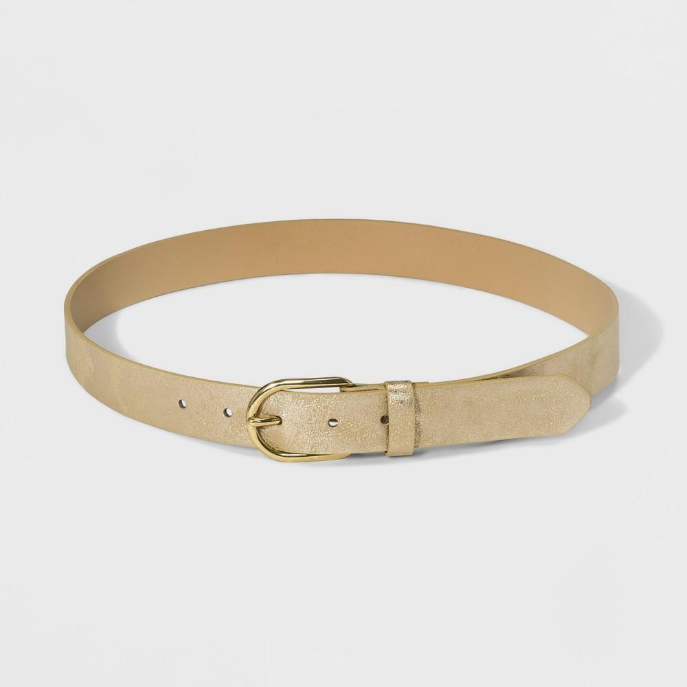 Women's Vintage Metallic Belt - Universal Thread Gold XL