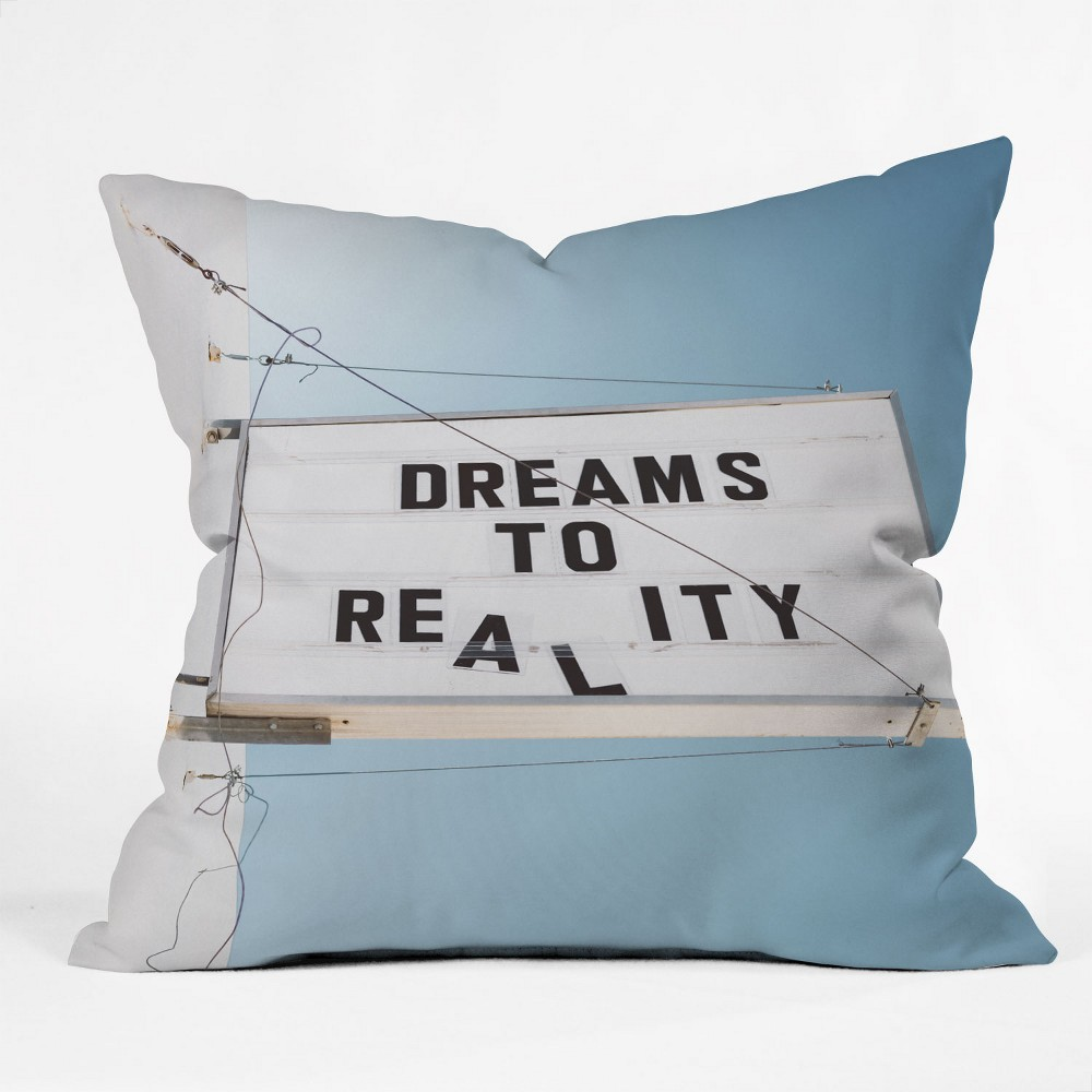 Bethany Young Photography Dreams to Reality Throw Pillow Blue - Deny Designs