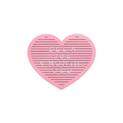 Pearhead Heart Letterboard