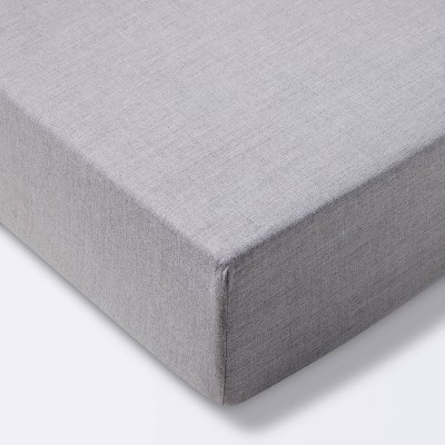 Fitted Crib Sheet Solid - Cloud Island™ Gray