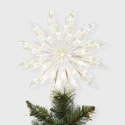 "13.5"" Lit Acrylic Starburst Tree Topper White - Wondershop™"