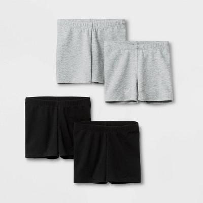 Toddler Girls' 4pk Tumble Shorts - Cat & Jack™ Black/Gray