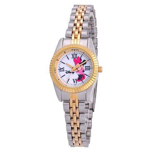 Women's Disney® Minnie Mouse Status Watch - Two-Tone - image 1 of 2