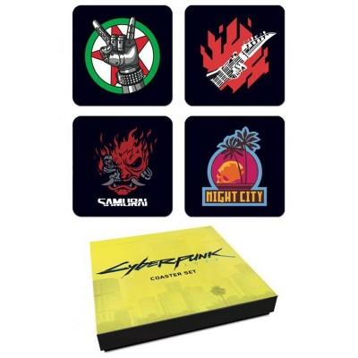 Dark Horse Comics Cyberpunk 2077 4 Piece Coaster Set