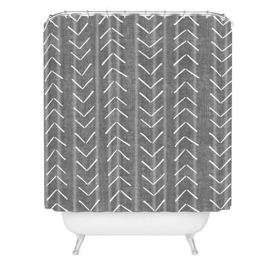 Becky Bailey Mud Cloth Big Arrows Shower Curtain Gray - Deny Designs