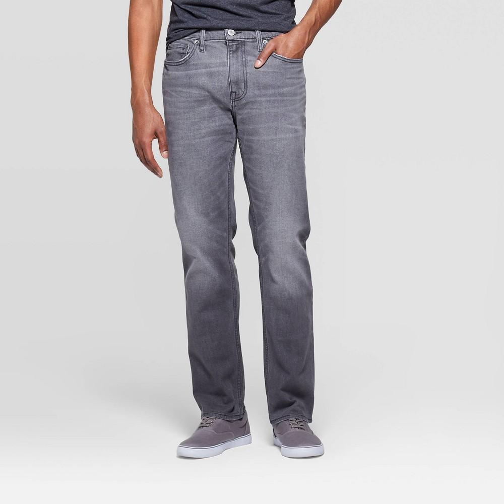 Men's 32 Regular Slim Straight Fit Jeans - Goodfellow & Co Gray 34x32