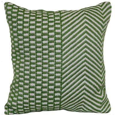 Outdoor Throw Pillow Square - Woven Zig Green - Threshold™