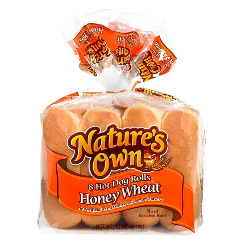 Nature's Own Honey Wheat Hot Dog Rolls - 8ct/11oz - image 1 of 1