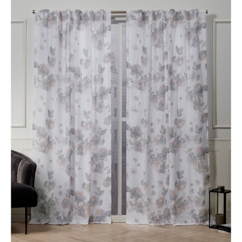 Kristy Back Tab Light Filtering Window Curtain Panels - Exclusive Home - image 1 of 4