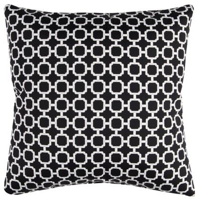 """22""""x22"""" Oversize Hockley Square Throw Pillow Black - Rizzy Home"""