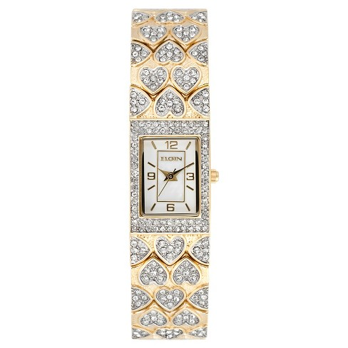 Women's Elgin® Watch - White/Gold - image 1 of 1