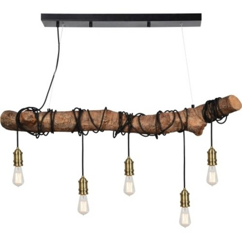 "Ren Wil LPC4348 Suma 5 Light 47"" Wide Linear Chandelier - image 1 of 1"