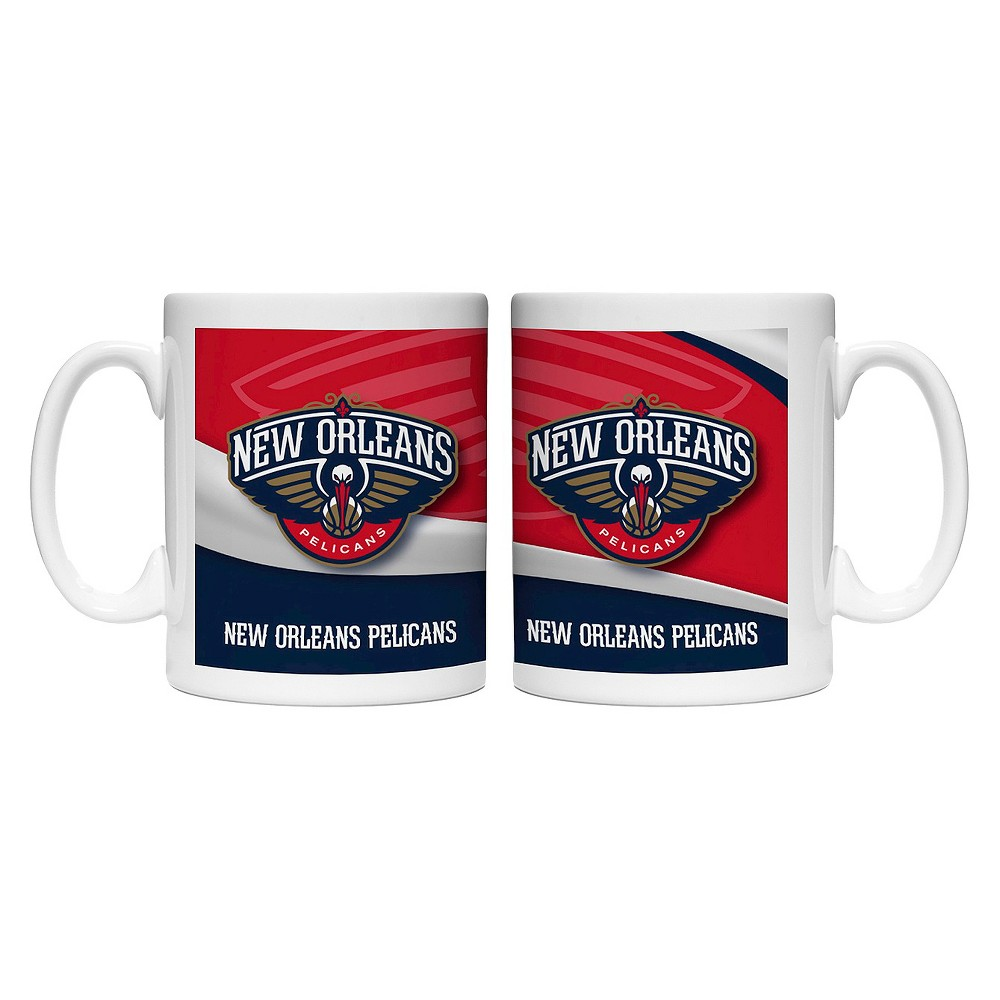 NBA Wave Style Mug 15oz 2pk - New Orleans Pelicans