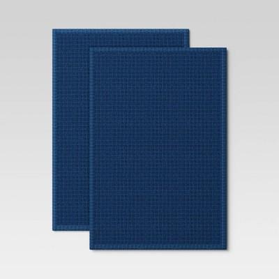 2pk Cotton Waffle Kitchen Towels Blue - Threshold™
