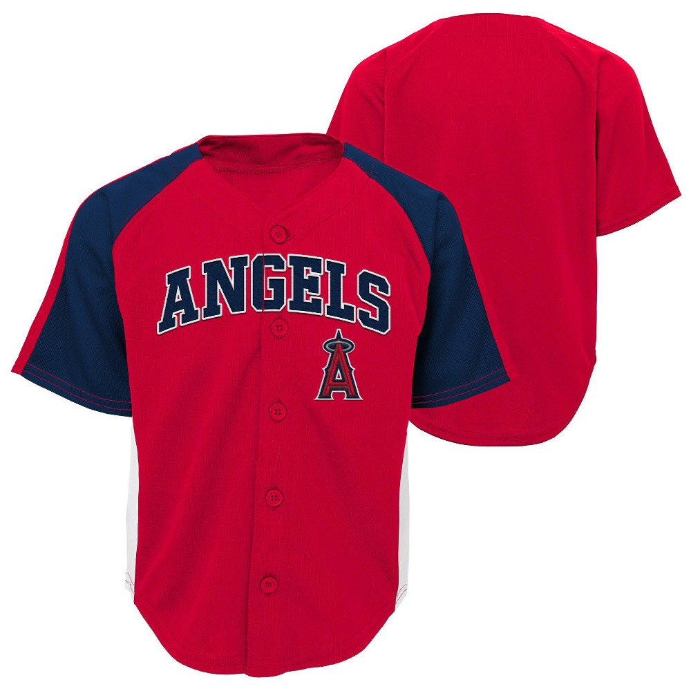 Los Angeles Angels Boys' Infant/Toddler Team Jersey - 12M, Multicolored