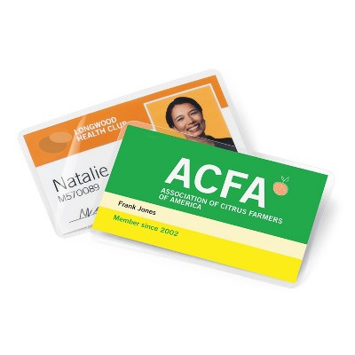 CL 5Mil 100//BX Business Card 2-1//4 in.x3-3//4 in. Business Source 20861 Laminating Pouch