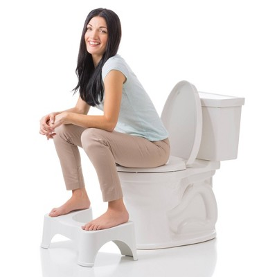 7  The Original Bathroom Toilet Stool White - Squatty Potty