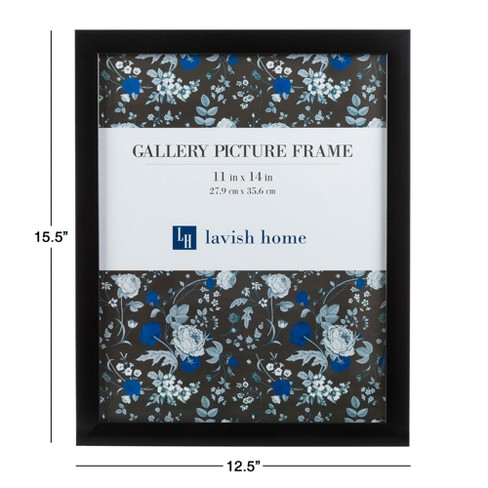 Picture Frame With Stand And Hanging Hooks Black 11x14 6pk