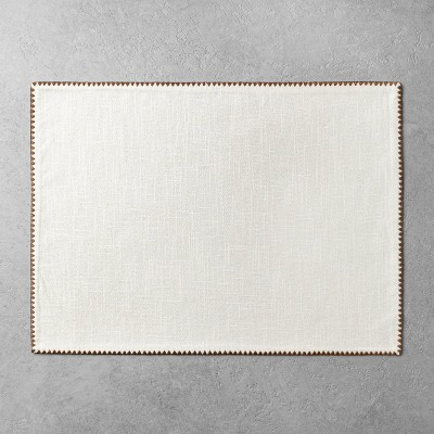Edge Stitch Placemat Sour Cream/Pumpkin Brown - Hearth & Hand™ with Magnolia
