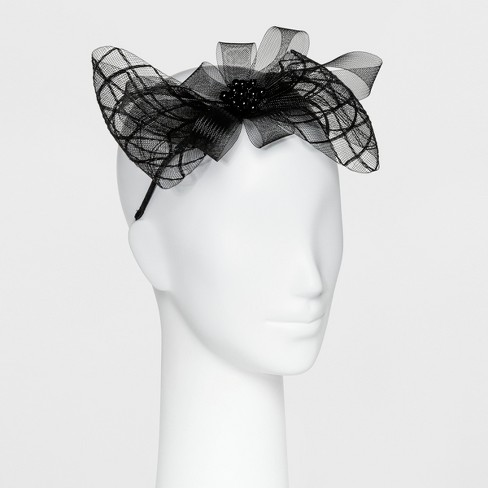 Women's Derby Headband with Bow - Black - image 1 of 1