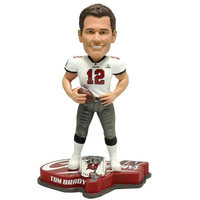 Forever Collectibles Tampa Bay Buccaneers Superbowl LV NFL Bobble Head | Champions Ring Tom Brady