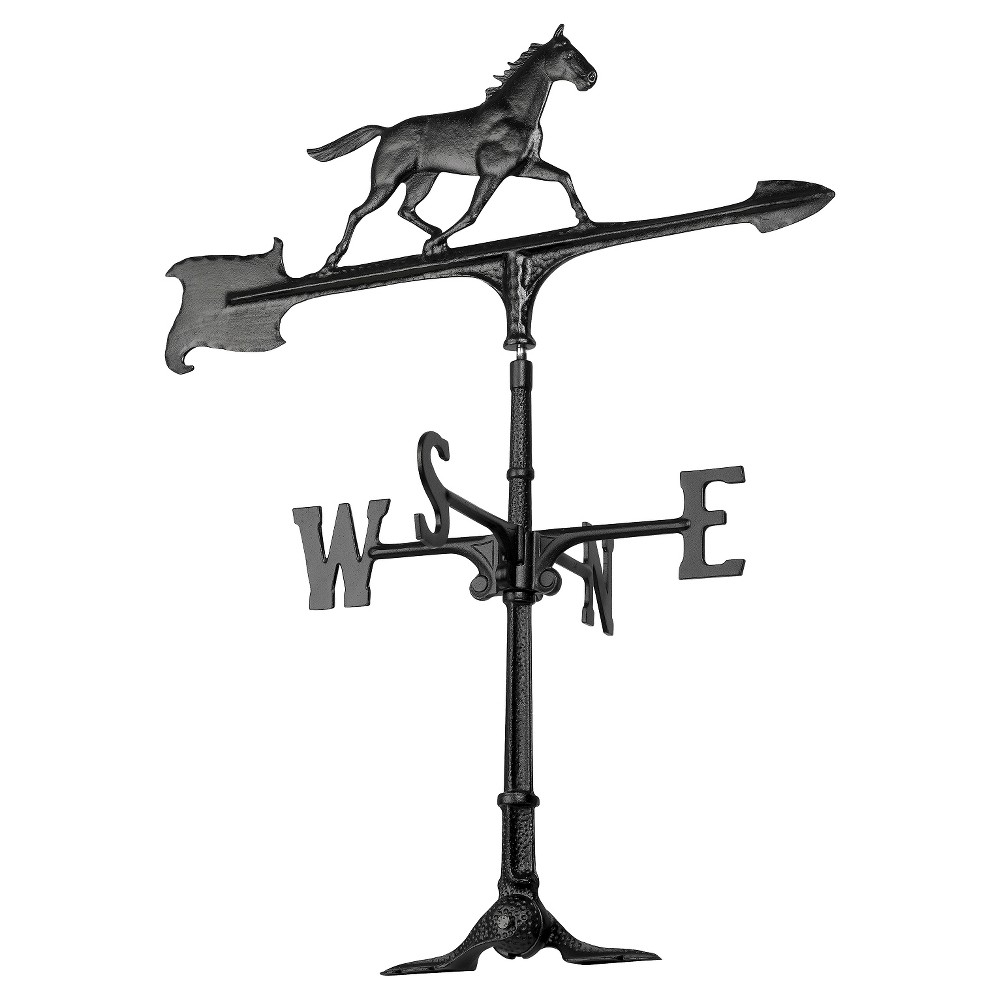 "Image of ""24"""" Horse Accent Weathervane - Black - Whitehall Products"""