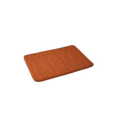 Grace Saona Pattern Terracotta Memory Foam Bath Mat Orange - Deny Designs