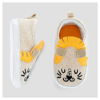 Baby Boys' Slip On Lion Sneakers - Cat & Jack™ Brown 0-3 Months