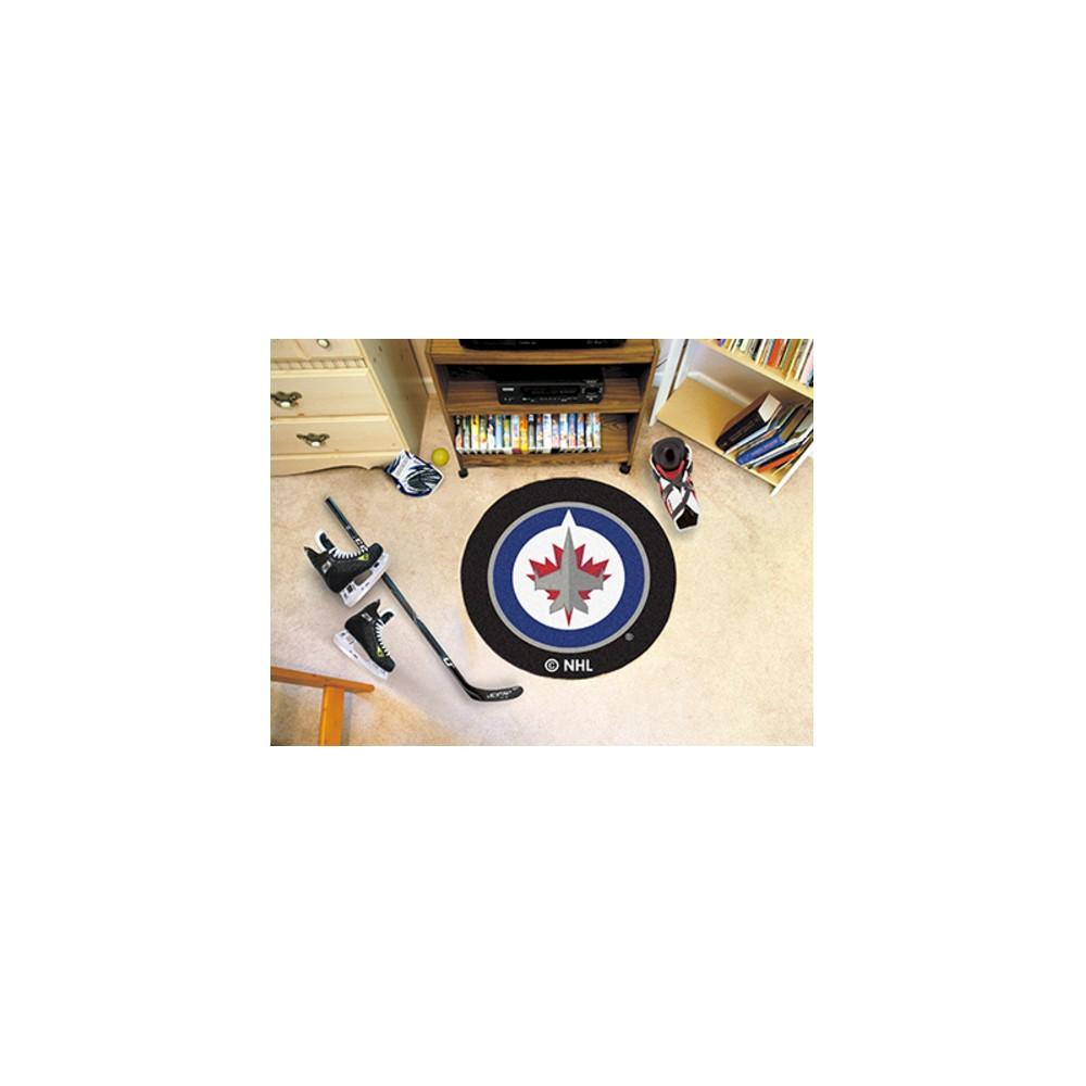 NHL Fan Mats Puck Mat - Winnipeg Jets