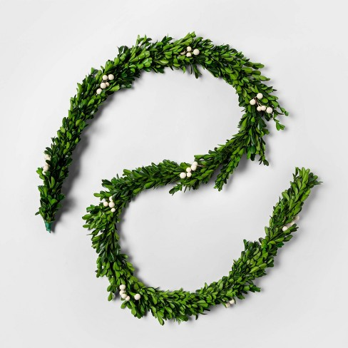6ft Preserved Boxwood Artificial Garland - sugar paper™ - image 1 of 3
